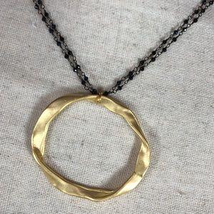 Black & Sand Studio Jewelry - NEW Adjustable Handmade Pyrite/Gold Necklace